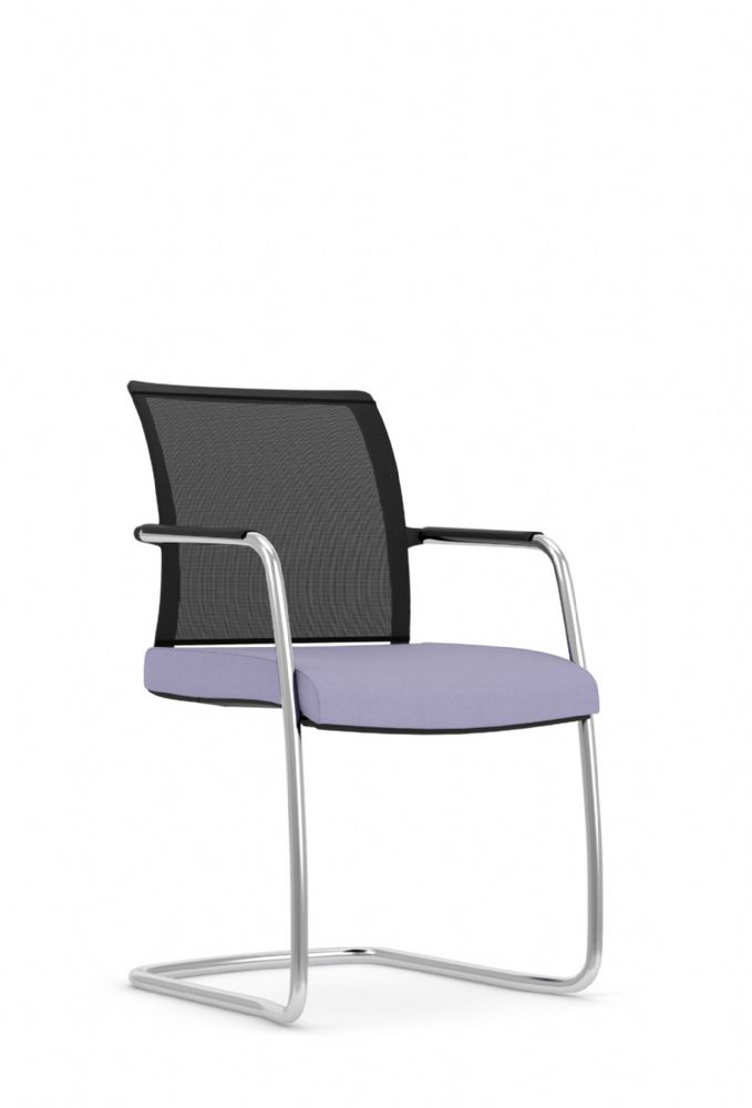 Pledge Jib Lite Visitor Chair With Mesh Back And Four Leg Frame